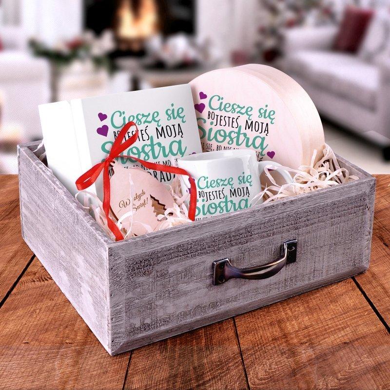 Zestaw świąteczny szuflada dla siostry