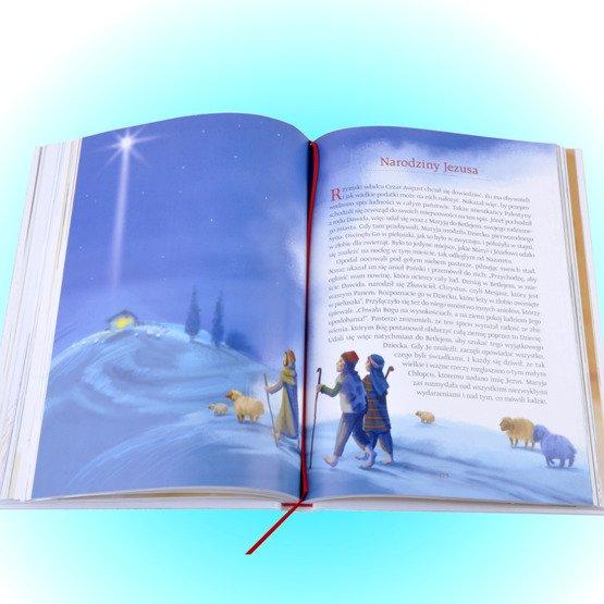 Biblia- Pamiątka I Komunii Świętej- różowy różaniec