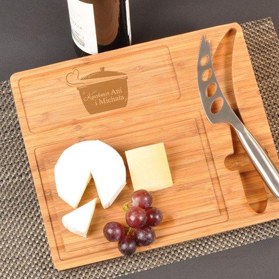 Deska kuchenna z nożem- Garnek z sercem