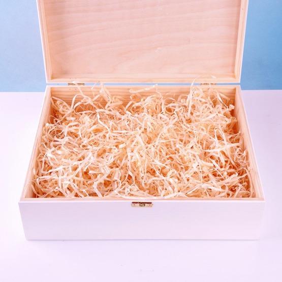 Drewniane pudełko wspomnień - metryczka - wiewiórka