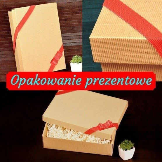 Drewniane pudełko z krówkami dla nauczyciela wspomagającego