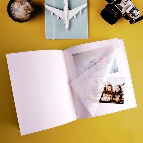 Duży album na zdjęcia dla dziecka - metryczka
