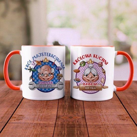 """Dwa kubki """"Para Królewska"""" dla dziadków"""