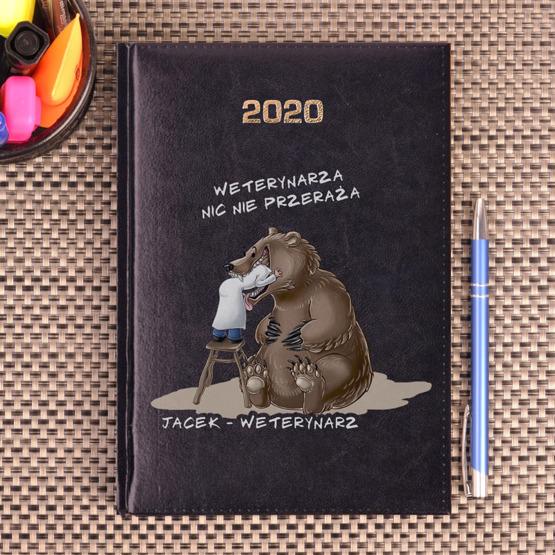 Kalendarz z nadrukiem dla weterynarza