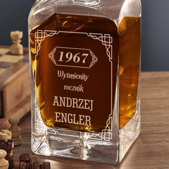 """Karafka do whisky """"Wyśmienity rocznik""""- prezent urodzinowy"""