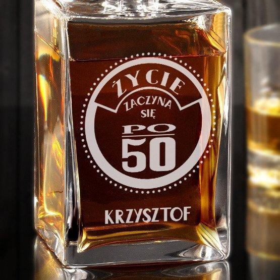 Karafka do whisky- życie zaczyna się po...