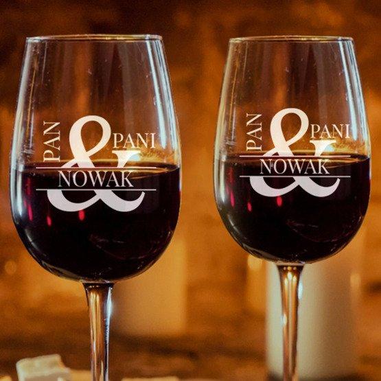 Kieliszki do wina -  Pan i Pani