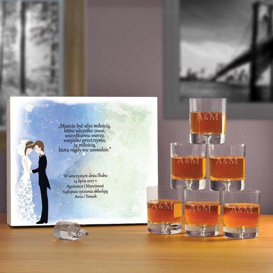"""Komplet sześciu szklanek w pudełku z nadrukiem- """"Para"""""""