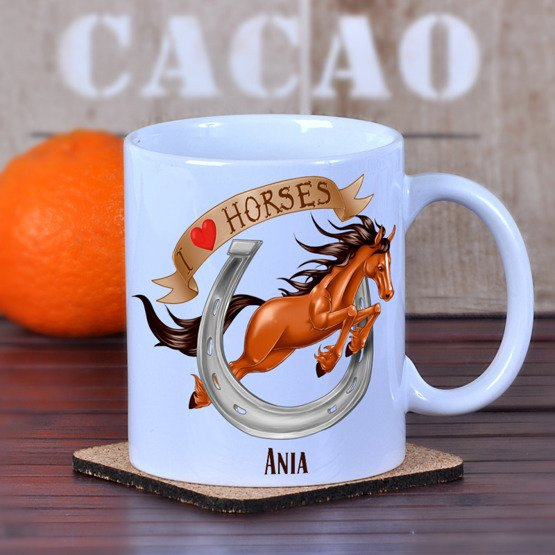 "Kubek ""I love horses"""