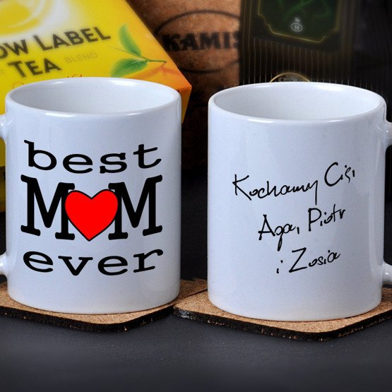 "Kubek dla Mamy- ""best MOM ever"""