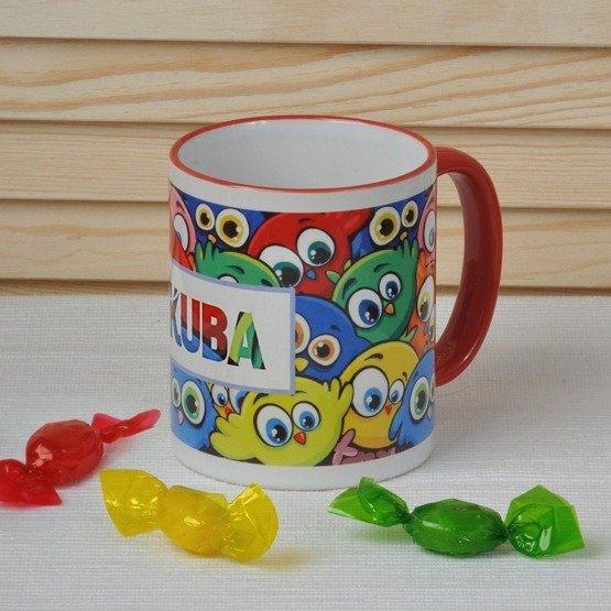 Kubek dla dziecka- kolorowe ptaki