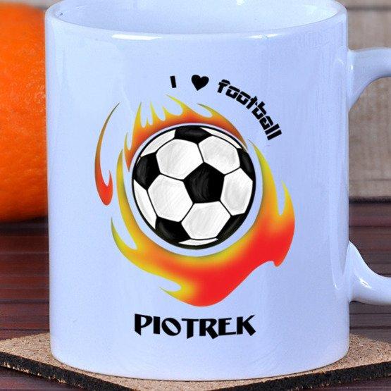 Kubek dla piłkarza 'I love football'