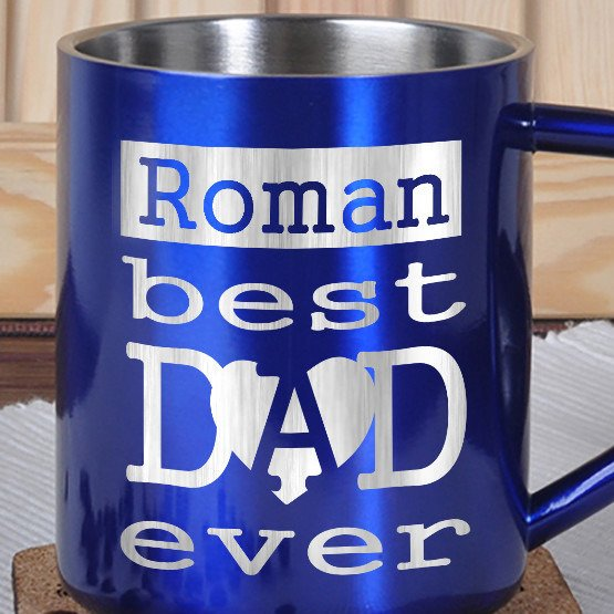 Kubek metalowy- Best Dad ever