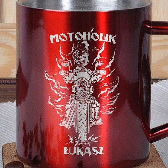 Kubek metalowy- Motoholik