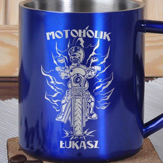 Kubek metalowy-Motoholik