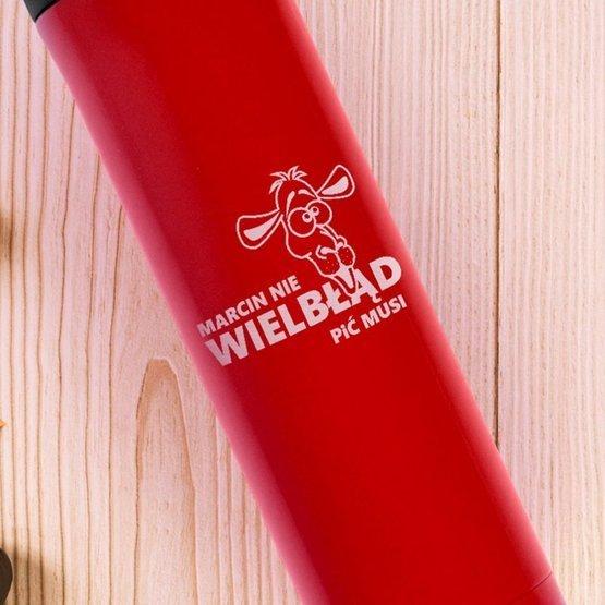 Kubek termiczny duży czerwony ...nie wielbłąd