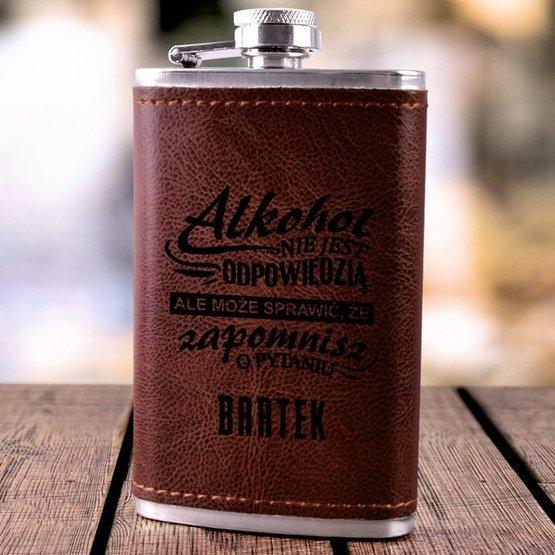 Piersiówka 130ml brązowa - alkohol