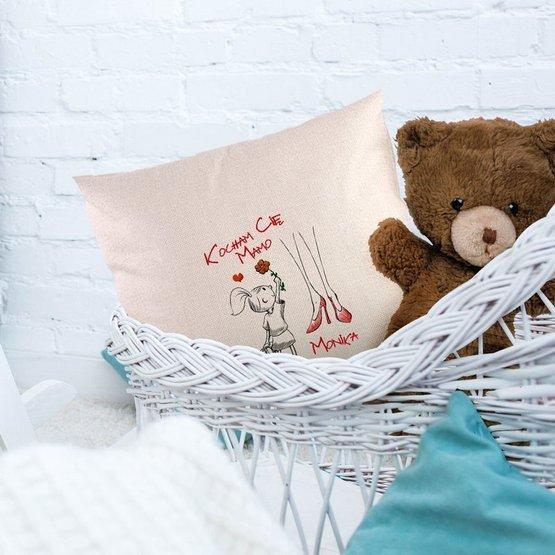 Poduszka dla mamy - Kocham Cię Mamo od synka lub córki