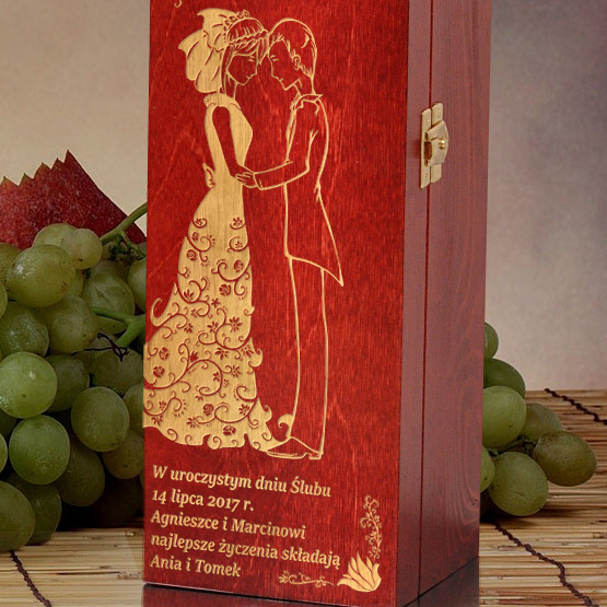 Pudełko na wino- dla Młodej Pary