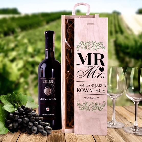 Pudełko na wino - prezent ślubny