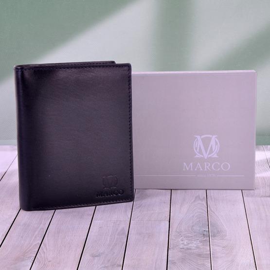 Skórzany portfel męski Marco z grawerem