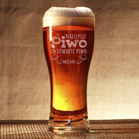 Szklanka do piwa - Otwarte piwo