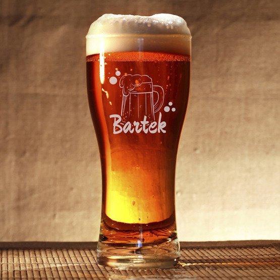 Szklanka do piwa - z Imieniem- prezent na imieniny