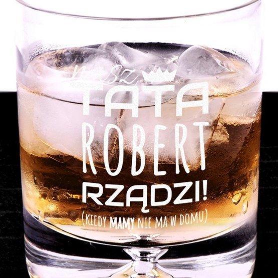 Szklanka do whisky - Tata rządzi - prezent dla ojca