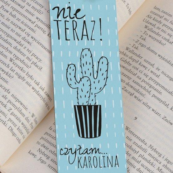 Zakładka do książki ze sznureczkiem- Kaktus