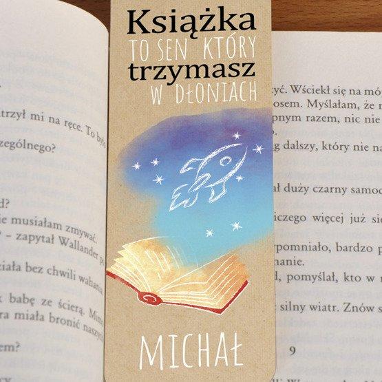 Zakładka do książki ze sznureczkiem- Książka to sen...