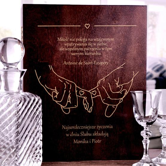 Zestaw dwóch kieliszków z karafką VINTAGE w pudełku na ślub lub rocznicę