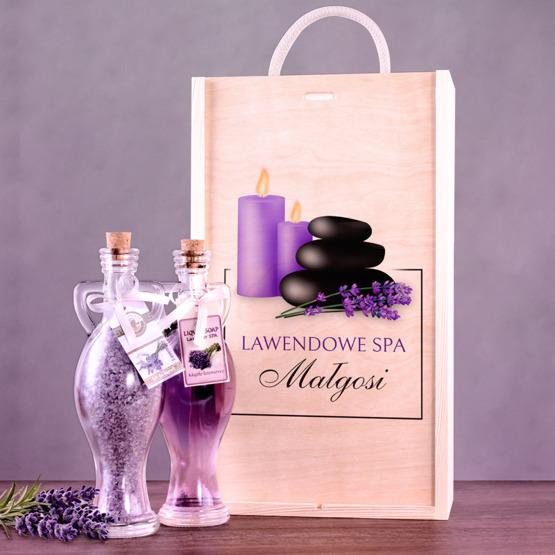 Zestaw kosmetyków w pudełku drewnianym - Lawendowe SPA