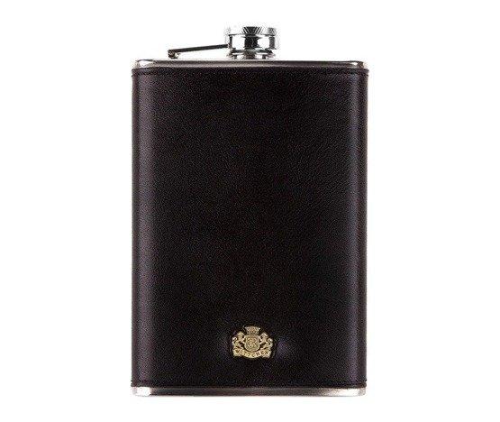 Zestaw prezentowy męski WITTCHEN IV - piersiówka + szal granatowy
